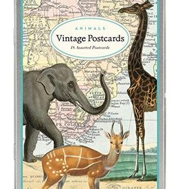 VINTAGE POSTCARDS SET - Animals