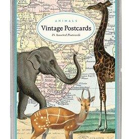 Vintage postkaarten set - dieren