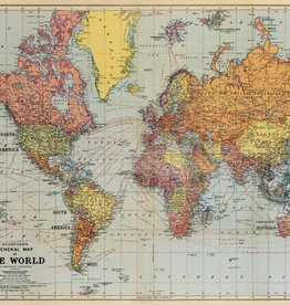 WORLD MAP - VINTAGE POSTER 70 cm x 50