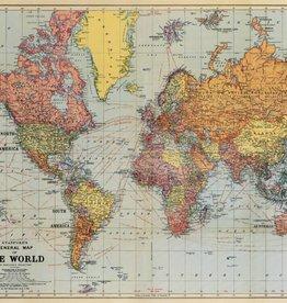 WORLD MAP - WRAP SHEET 70cm X 50