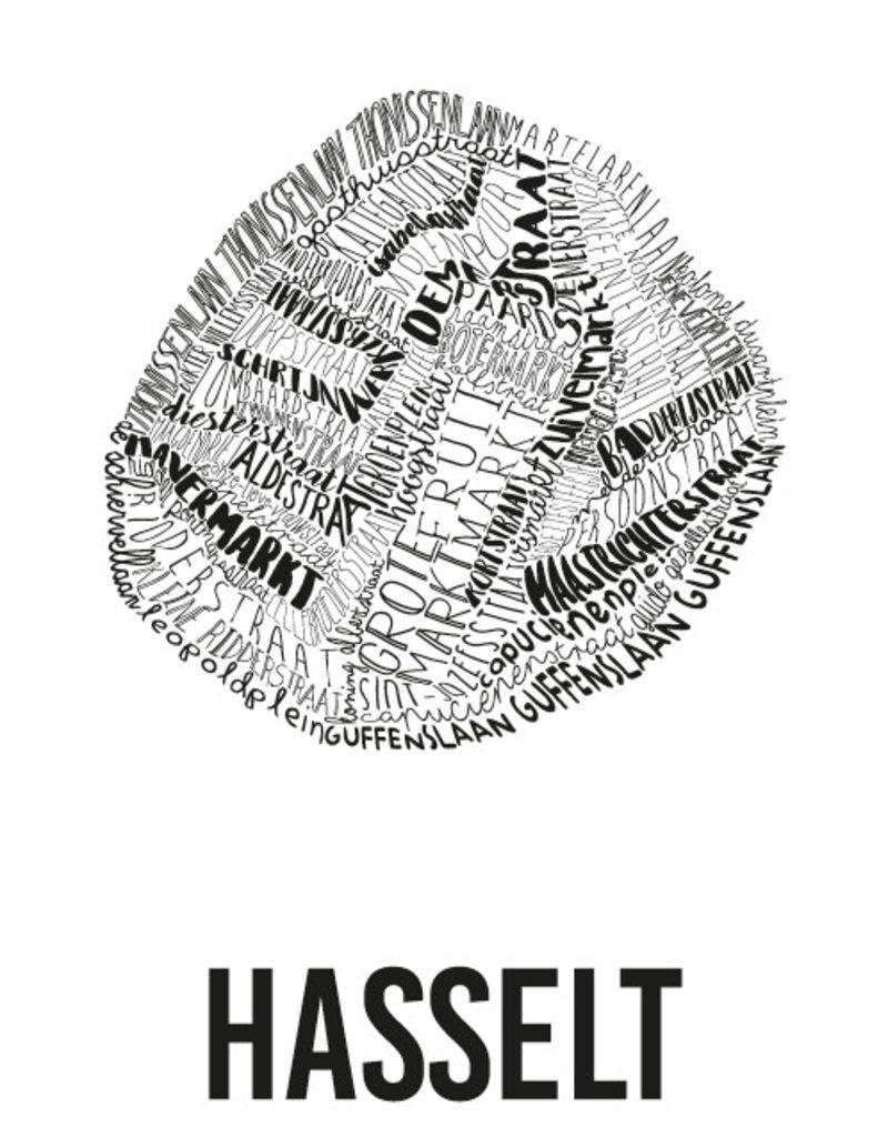 POSTER - Hasselt (70x100cm)