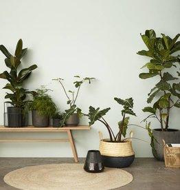 Hubsch Basket, round bamboo, nature, s/2, 34xh33, 39xh36