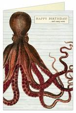 VINTAGE WENSKAART - Happy Birthday - Octopod