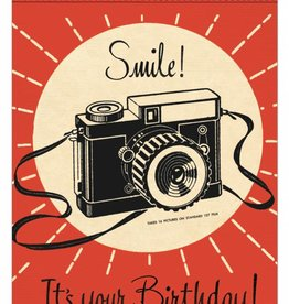 VINTAGE WENSKAART - Happy Birthday - Smile