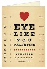 VINTAGE WENSKAART - Valentine - Eye Like You