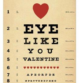 VINTAGE GREETING CARD - Valentine - Eye Like You