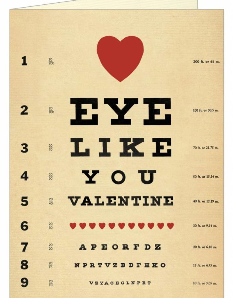 CARTE DE VOEUX - Valentine - Eye Like You