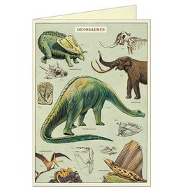 VINTAGE GREETING CARD - Dinosaurs
