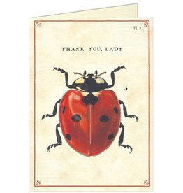 VINTAGE GREETING CARD - Thank You - Ladybug