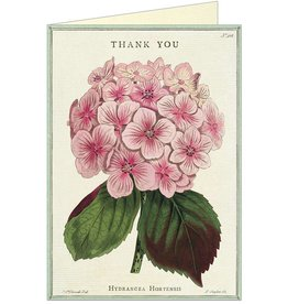 VINTAGE GREETING CARD - Thank You - Hydrangea