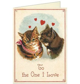 VINTAGE GREETING CARD - Valentine Cats