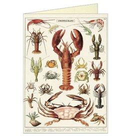 CARTE DE VOEUX VINTAGE - Crustacés