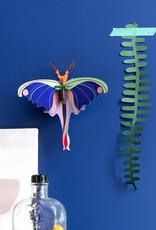 DIY WANDDECORATIE - Blauwe Komeetstaartvlinder