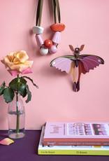 DIY WANDDECORATIE - Roze Komeetstaartvlinder