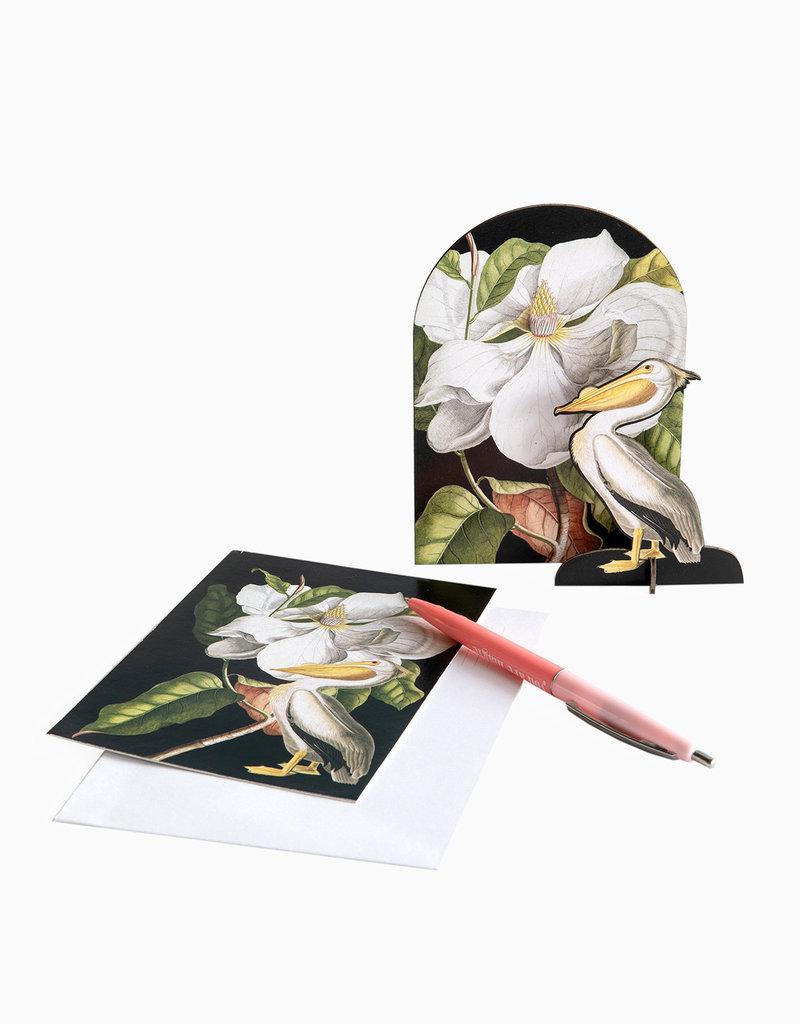 Romantische pop out card -  Pelikaan