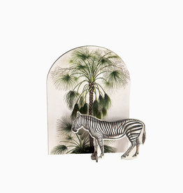 Tropische pop out card- zebra