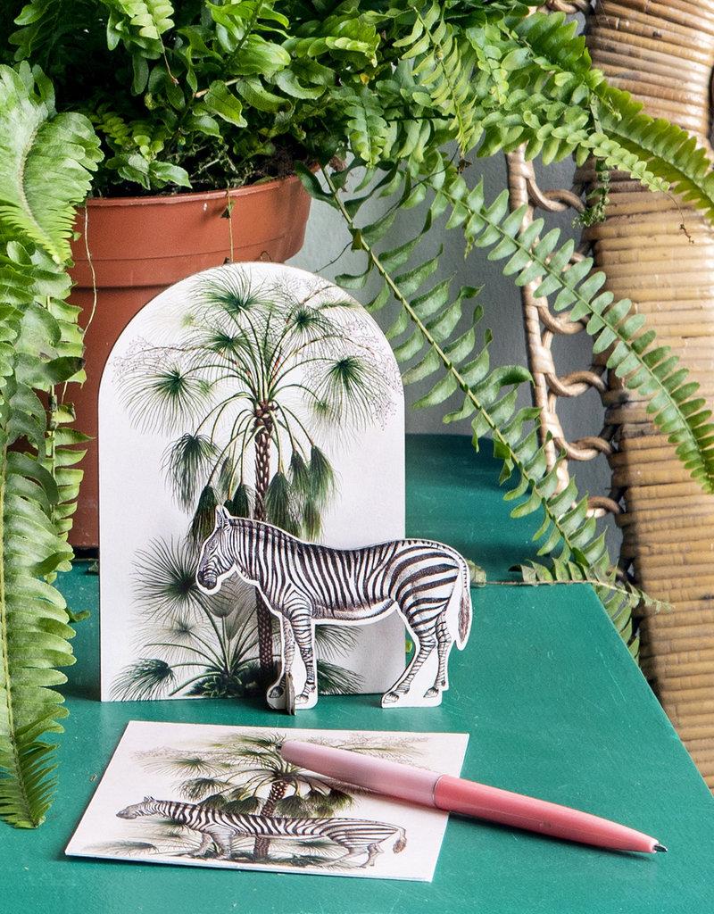POP-OUT CARD - Tropical - Zebra