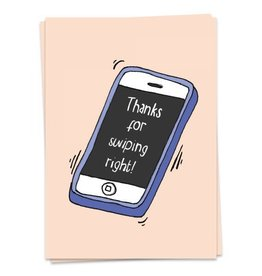 KAART BLANCHE GREETING CARD - swiping right