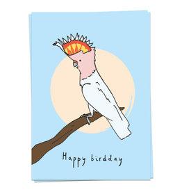 KAART BLANCHE WENSKAART - Happy Birdday