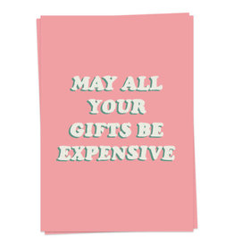 KAART BLANCHE GREETING CARD - expensive gifts