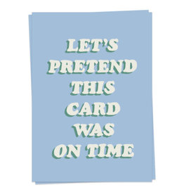KAART BLANCHE GREETING CARD - on time