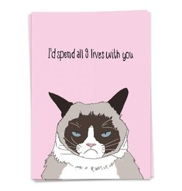 KAART BLANCHE GREETING CARD - 9 lives