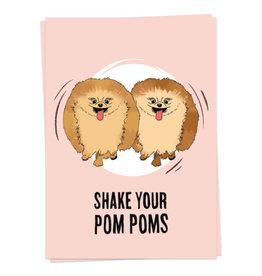 KAART BLANCHE WENSKAART - Shake Your Pom Poms