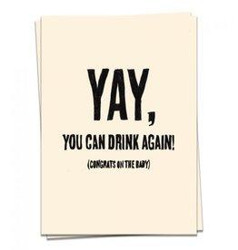 KAART BLANCHE WENSKAART: Baby- Yay, You Can Drink Again!