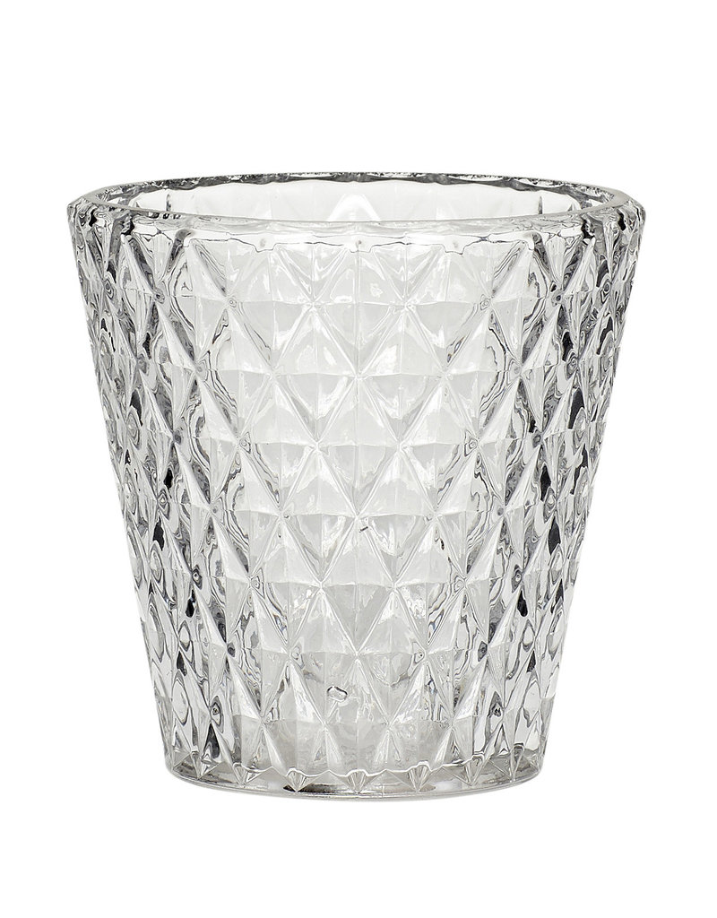 Theelichthouder, glas, doorschijnend