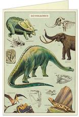 VINTAGE GREETING CARD - Dinosaurs