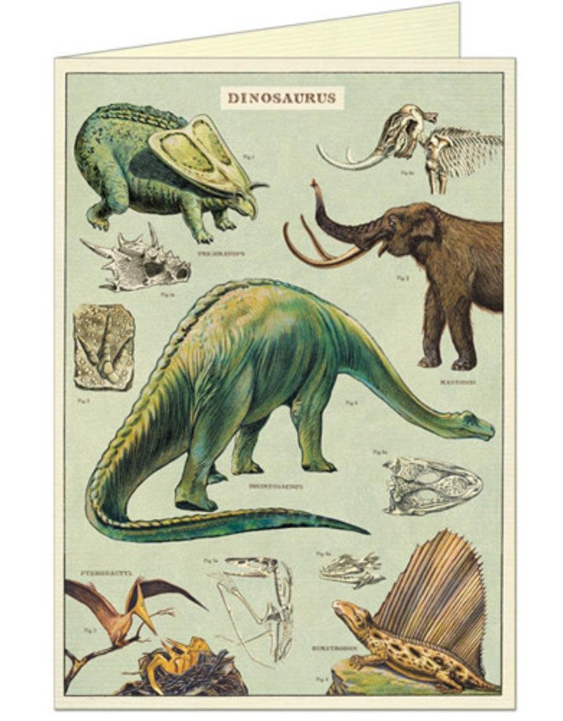 VINTAGE WENSKAART - Dinosaurussen