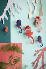 DIY DECORATION MURAL - Hippocampes