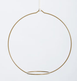 Plantenhanger circula - antiek goud