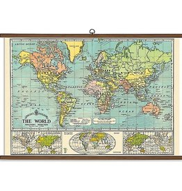 VINTAGE SCHOOL CHART - World Map (70x100cm)