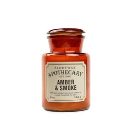 APOTHECARY - Glazen Kaars -  Amber & Smoke (226g)
