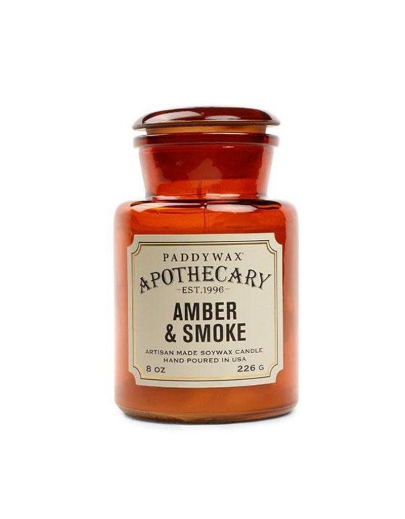 APOTHECARY GLAZEN KAARS -  amberkruid & rook noten 226g
