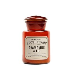 APOTHECARY - Glazen Kaars - Chamomile & Fig (226g)
