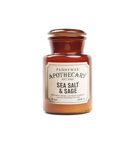 APOTHECARY - Glass Candle - Sea Salt & Sage (226g)