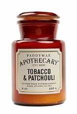 APOTHECARY GLAZEN KAARS  - tabak & patchouli 226g