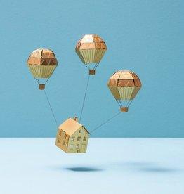 MINIATUUR: Luchtballon goud