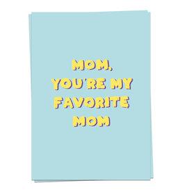 KAART BLANCHE  WENSKAART:  Mom Love - Fave mom