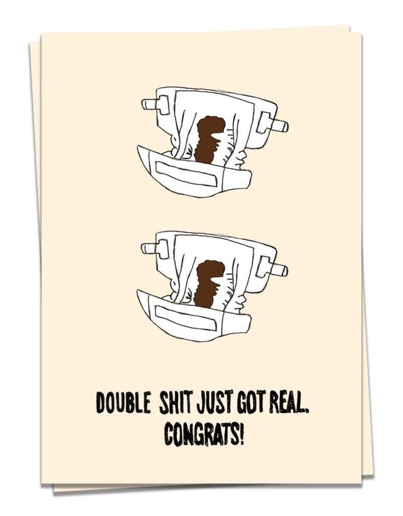KAART BLANCHE WENSKAART:  Baby - Double Sh*t got real