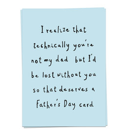 KAART BLANCHE  WENSKAART:  Dad Love  - technically