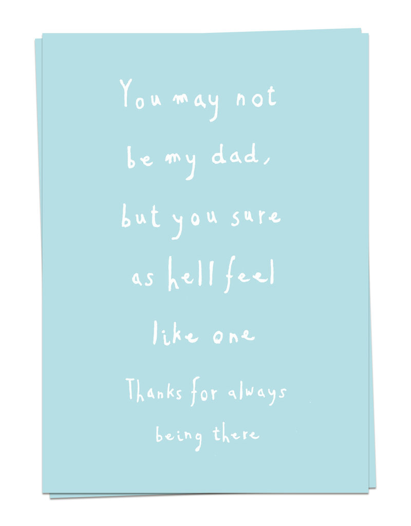 KAART BLANCHE WENSKAART:  Dad Love - May not be