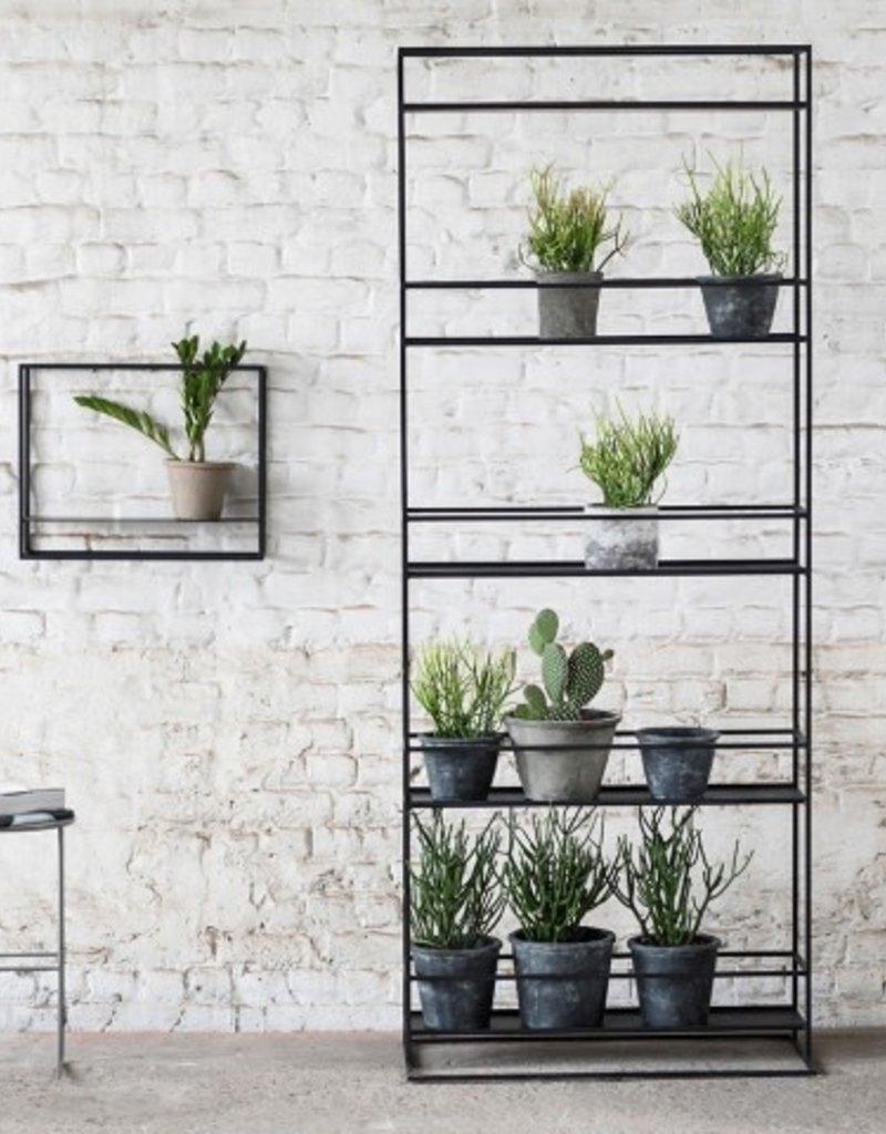 SUPPORT A PLANTES - Haut Noir 80x37x200 cm