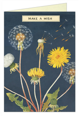 VINTAGE GREETING CARD - Make a Wish - Dandelion