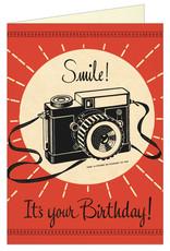 CAMERA BIRTHDAY - GREETING CARD & ENVELOPE