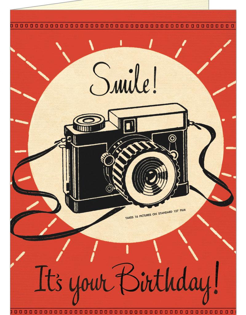 VINTAGE WENSKAART - Happy Birthday - Smile