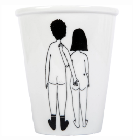 PORCELAIN MUG - Naked Couple Back