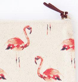 TOILETRY BAG - Pink Flamingos